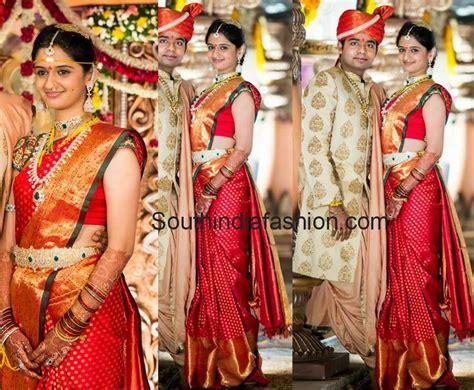 Bride In Ravishing Red Bridal Silk Saree