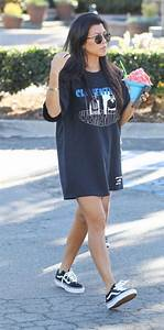 Kourtney Kardashian | Vans Old Skool Lite | Celebrity Fashion and Style | Shoes and Stars ...