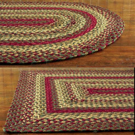 braided doormat and green braided jute area rug country rustic oval