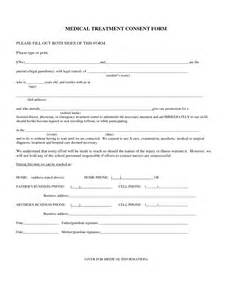 Medical Treatment Consent Form Template