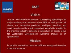 BASF Vision We are