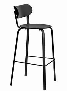 Tabouret Metal Noir : chaise de bar stil h 75 cm m tal m tal laqu noir lapalma ~ Teatrodelosmanantiales.com Idées de Décoration