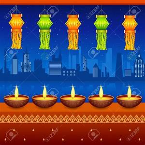 Lamp clipart diwali lantern - Pencil and in color lamp ...