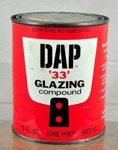 vintage dap  glazing compound  pint  collectable