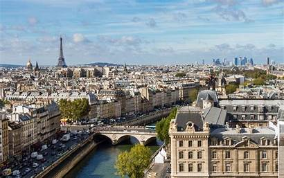 Paris France Population Seen Cities Dame Notre