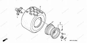 Honda Atv 2001 Oem Parts Diagram For Rear Wheel