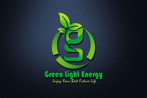 Eco Green Light Energy Logo Design - GraphicsFamily