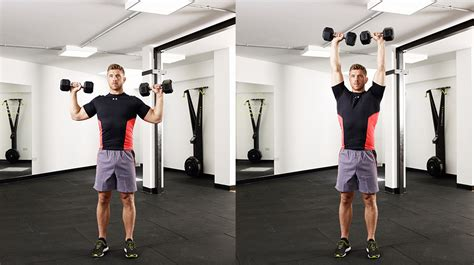 press shoulder dumbbell overhead fat lose belly fast exercises weights coach coachmag hand palms wide holding
