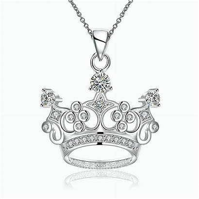 Crown Necklaces Necklace Pendant Silver Jewelry Sterling