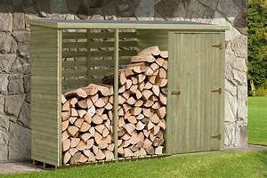Kaminholzregal Metall Mit Rückwand : kaminholzregal mit ger teschrank 280 x 100 x 200 cm aus holz brennholz lager ~ Orissabook.com Haus und Dekorationen