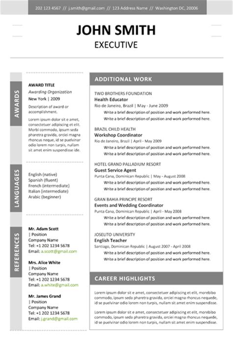 Executive Resume Portfolios by Executive Resume Template Cover Letter Portfolio