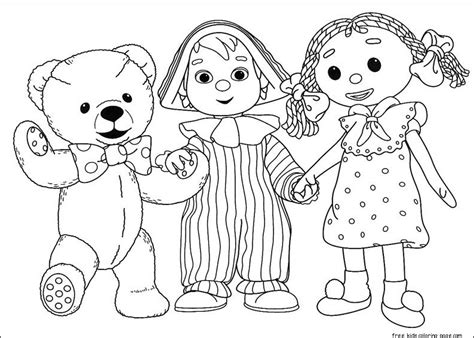 printable andy pandy cartoon coloring pages  kidsfree