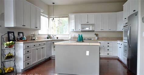 updating kitchen cabinets with paint diy painted kitchen cabinet update reveal hometalk 8761