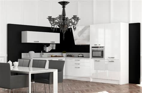 cuisine blanc et noir photo 13 25 des meubles laqués