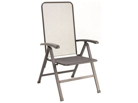 sunvilla innsbruck steel mesh black folding chair