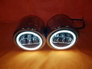 Harley chrome dual twin daymaker headlights with bracket