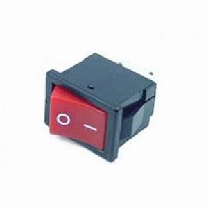 Rocker Switch Red On  Off Dpst 6a 250vac Panel Mount  Snap
