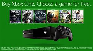Buy An Xbox One Next Week And Get A Free Game Of Your