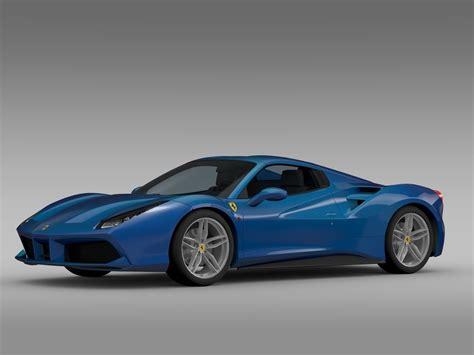 I actually saw a bright blue ram 2500 today, that looks nice. Ferrari 488 GTB Spider 2016 3D Model MAX OBJ 3DS FBX C4D LWO LW LWS   CGTrader.com