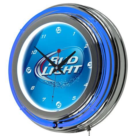 trademark bud light 14 inch neon wall clock home home