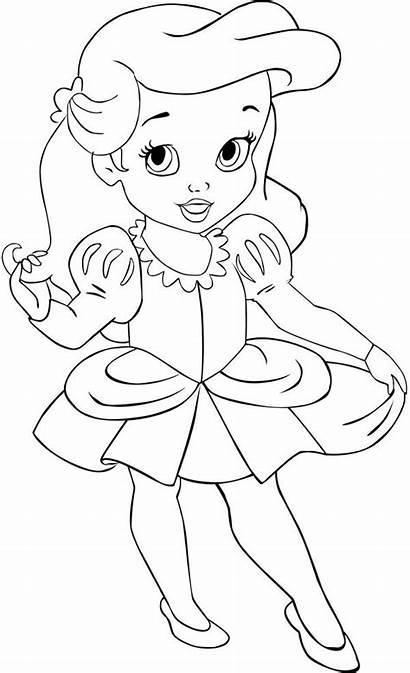 Ariel Coloring Princess Pages Disney Mermaid Cinderella