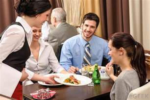 Restaurant Waiter Serving Food
