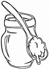 Coloring Pages Spoons Wooden sketch template