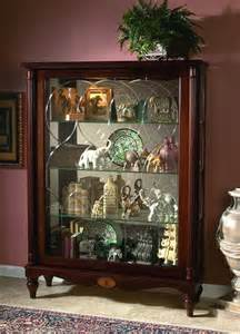 pulaski curio cabinet 20703 two way sliding door curio