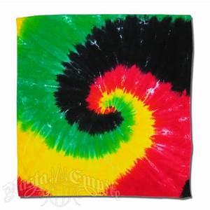 Rasta Spiral Tie-Dyed Bandana @ RastaEmpire com