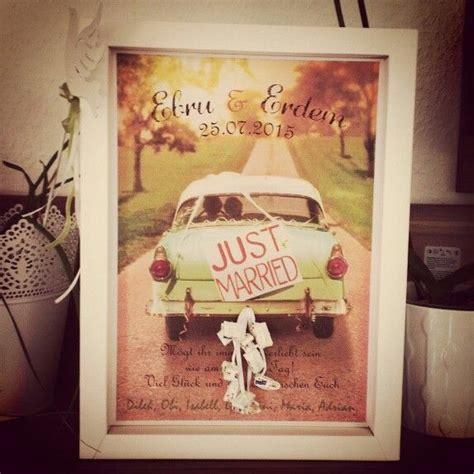 hochzeitsgeschenk geld  marriage auto vintage