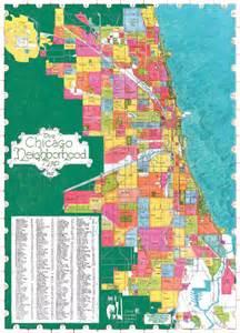 Chicago Neighborhood Boundaries Map