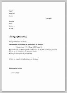 Außerordentliche Kündigung Mietvertrag : k ndigung mietvertrag musterbrief ~ Lizthompson.info Haus und Dekorationen