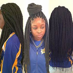 Medium size long box braids | Styled braids. | Pinterest ...