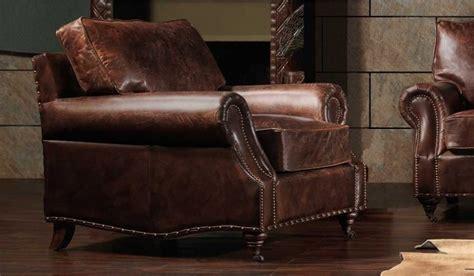 Burlington Antique Leather Armchair- Luxury