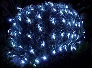Guirlande Lumineuse Exterieur Solaire : guirlande solaire filet 96 leds blanc ~ Teatrodelosmanantiales.com Idées de Décoration