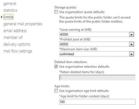 Office 365 Quota by Folder 2gb Limit In Office365 David Vielmetter