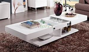 Burlington white coffee table living room furniture xiorex for White gloss furniture for living room