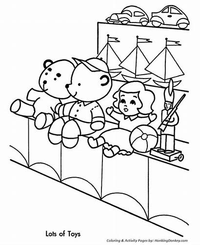 Coloring Toy Shopping Christmas Toys Pages Drawing