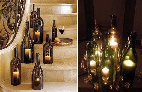 Candele Economiche On Line by How To Cut Wine Bottles For Candle Holders Emmaline