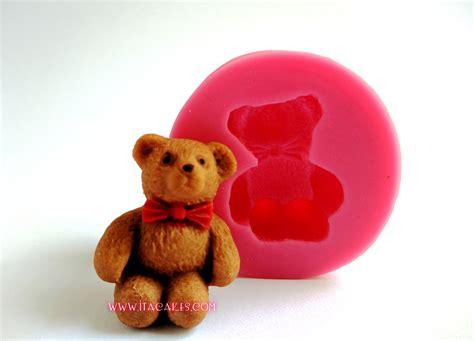 teddy bear upright silicone mold itacakes part