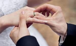 husband placing wedding ring on finger 8 adworkspk With husband wedding ring