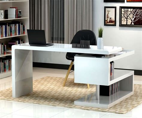 unique home office desks stunning modern home office desks with unique white glossy