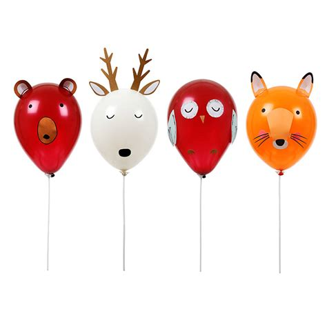 animal balloons forest animals balloon craft kit by little lulubel notonthehighstreet com