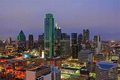 Dallas Texas Downtown Night Oak Skyline Cliff