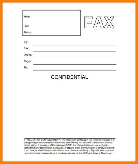 Cover Sheet Template Word by 5 Hipaa Fax Cover Sheet Confidentiality Statement