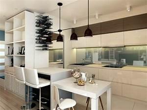Table Cuisine Moderne : 73 id es de cuisine moderne avec lot bar ou table manger ~ Teatrodelosmanantiales.com Idées de Décoration