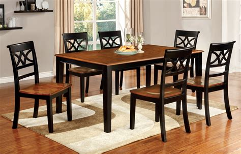 country dining table furniture of america two tone adelle country style dining