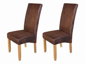 Chaise salle a manger cuir vieilli for Meuble salle À manger avec chaise salle a manger simili cuir blanc