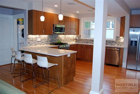 norfolk kitchen and bath contemporary kitchen with woodgrain door adds warmth