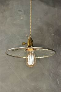 Vintage Industrial Pendant Lamp With Flat Mirror Reflector